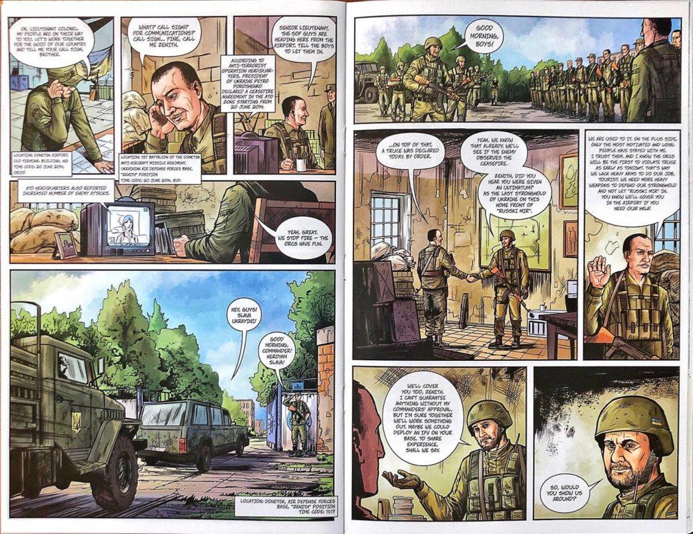 "Зображення сторінки коміксу ""Kiborhy. The legend of the invincible. Book 1"""